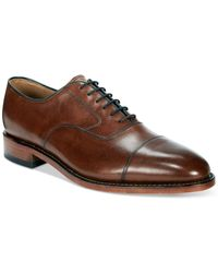 Johnston & Murphy Shoes, Melton Cap Toe Oxfords - Brown