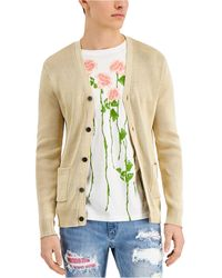 INC International Concepts Stonewashed Cardigan Sweater, Created For Macy's - Natural