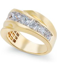 Macy's - Diamond Twist Statement Ring (2 Ct. T.w.) In 10k Gold - Lyst
