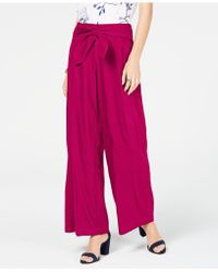 INC International Concepts I.n.c. Wide-leg Paper Bag Tie Waist Trousers, Created For Macy's - Multicolour
