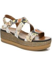 Naturalizer Nadira Ankle Strap Wedge Sandals - Multicolour