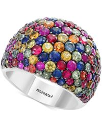Effy Collection - Multicolor Sapphire Statement Ring (6-1/6 Ct. T.w.) In Sterling Silver - Lyst