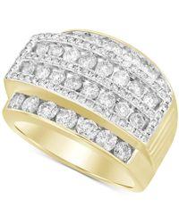 Macy's Diamond Cluster Ring (3 Ct. T.w.) In 10k Gold - Metallic