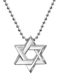 Alex Woo - Star Of David Beaded Pendant Necklace In Sterling Silver - Lyst