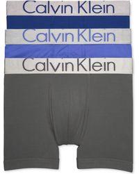 Calvin Klein - Men's 3-pk. Metallic Waistband Boxer Briefs - Lyst