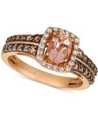 Le Vian - ® Peach Morganitetm (1/2 Ct. T.w.) & Diamond (5/8 Ct. T.w.) Ring In 14k Rose Gold - Lyst