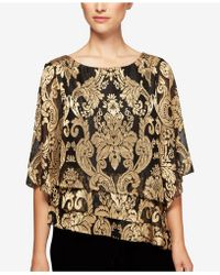Alex Evenings - Printed Tiered Top - Lyst