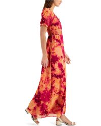 Bar Iii Printed Maxi Dress, Created For Macy's - Red