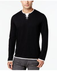 INC International Concepts - Really Real Pieced Shirt - Lyst