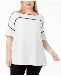 Alfani - Plus Size Piping-trim Top, Created For Macy's - Lyst