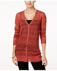 Cable & Gauge - Pointelle-knit Cardigan - Lyst