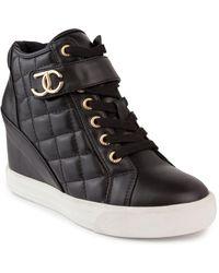 Juicy Couture Journey Wedge Sneakers - Black