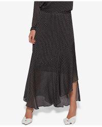Avec Les Filles - Clip-dot Ruffled Maxi Skirt - Lyst