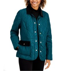 Charter Club Petite Quilted Jacket, Created For Macy's - Blue