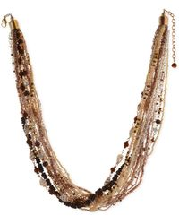 """Style & Co. Multi-bead Torsade Necklace, 24"""" + 3"""" Extender, Created For Macy's - Brown"""