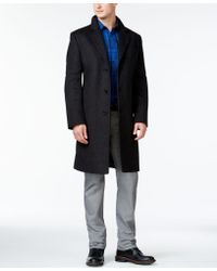 Michael kors San Fran Modern Woolblend Peacoat in Gray for Men | Lyst