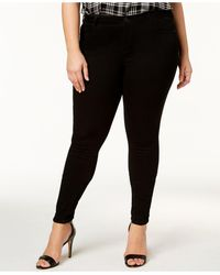 Celebrity Pink Plus Size Outsiders Wash Super-soft Skinny Jeans - Black