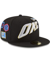 best sneakers fc3ab 3afad usa ktz oklahoma city thunder city on court 59fifty fitted cap lyst 70d87  d8aa5
