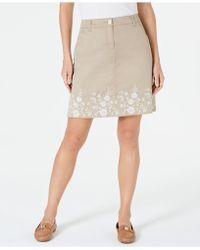 Karen Scott - Embroidered Skort, Created For Macy's - Lyst