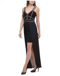 Marciano Beaded High-low Bandage Gown - Black