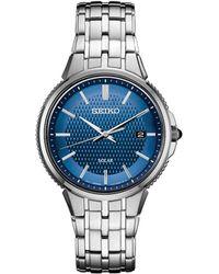 Seiko - Solar Essentials Stainless Steel Bracelet Watch 39.4mm - Lyst
