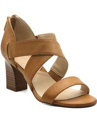 Adrienne Vittadini Rowsey Cross Band Sandals - Multicolour