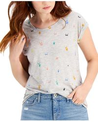 Style & Co. - Printed Crewneck Top, Created For Macy's - Lyst