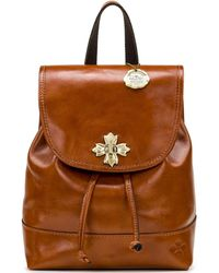Patricia Nash Seluci Leather Backpack - Brown