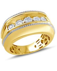 Macy's Diamond Two-tone Ring (1/5 Ct. T.w.) In Sterling Silver & 14k Gold-plate - Metallic