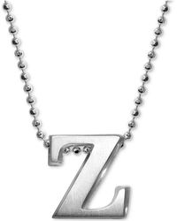 Alex Woo - Little Letter By Initial Pendant Necklace In Sterling Silver - Lyst