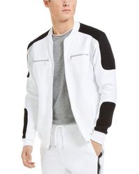 INC International Concepts Portrait Track Jacket, Created For Macy's - White