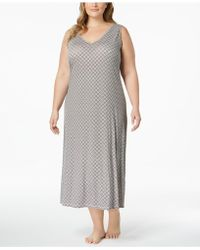 Alfani - Plus Size Honeycomb-print Nightgown, Created For Macy's - Lyst