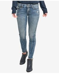 Silver Jeans Co. - Aiko Skinny Ankle Jeans - Lyst