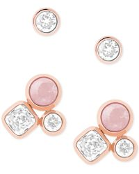 Michael Kors - 2-pc. Set Crystal And Colored Stone Stud Earrings - Lyst