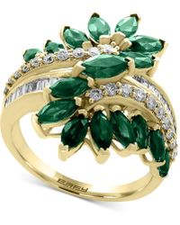 Effy Collection - Emerald (2-1/2 Ct. T.w.) And Diamond (3/8 Ct. T.w.) Ring In 14k Gold - Lyst