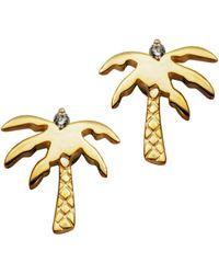 Macy's Palm Tree Earrings In Fine Silver Plate - Metallic