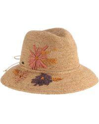 05ad5d187 Scala Crochet Raffia Safari Hat With Embroidery
