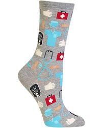 Hot Sox Doctor Fashion Crew Socks