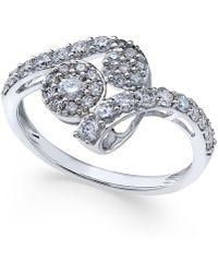 Macy's - Diamond Swirl Cluster Ring (3/4 Ct. T.w.) In 14k White Gold - Lyst