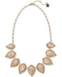 Laundry by Shelli Segal Frisco Fringe Goldtone & Acrylic Stones Necklace - Metallic