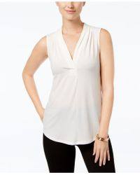 Charter Club - Petite Pleated Top - Lyst