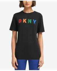 DKNY - Logo-stitch T-shirt, Created For Macy's - Lyst