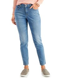 Style & Co. Curvy-fit Tummy-control Skinny Jeans, Created For Macy's - Blue