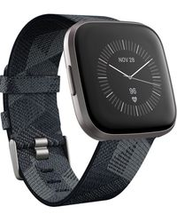 Fitbit Versa 2 Smoke Fabric Strap Touchscreen Smart Watch 39mm - A Special Edition - Multicolor