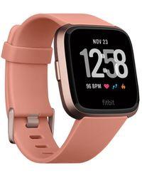 Fitbit Versatm Peach Band Touchscreen Smart Watch 39mm - Multicolour