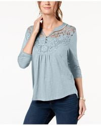 Style & Co. - Embroidered Top, Created For Macy's - Lyst