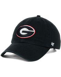 47 Brand - Georgia Bulldogs Ncaa Clean-up Cap - Lyst