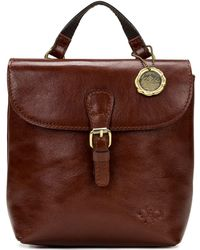 Patricia Nash Vatoni Convertible Leather Backpack - Brown