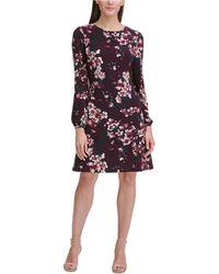 Tommy Hilfiger - Floral Jersey A-line Dress - Lyst