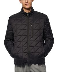 Marc New York Brompton Quilted Mid Bomber With Removable Sherpa Liner - Black